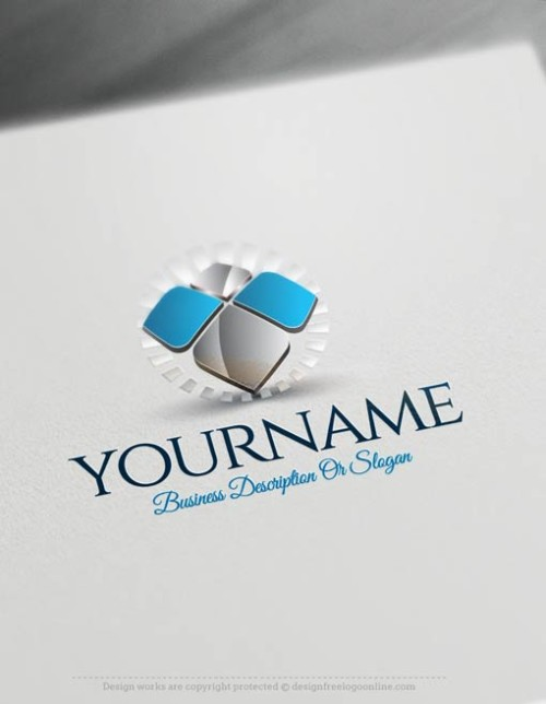 DesignFreeLogoOnline made Abstract logo mak