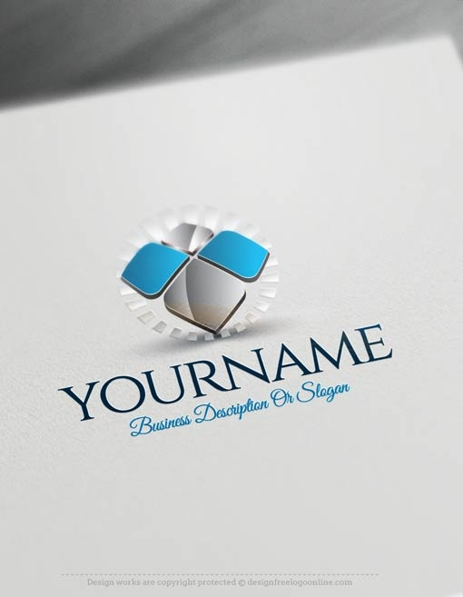 Design free logo 3d abstract logo template for Logo design online free 3d
