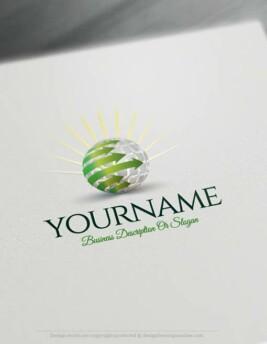 00340-Free-logomaker-sun-globe-Logo-Template
