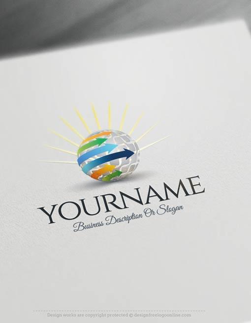00340-Free-logomaker-sun-globe-Logo-Templates