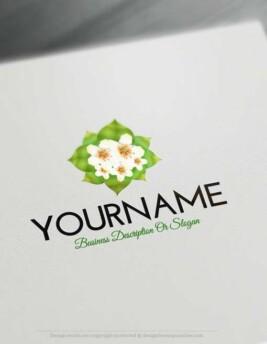 00342-Free-logomaker-simple-flower-Logo-Templates