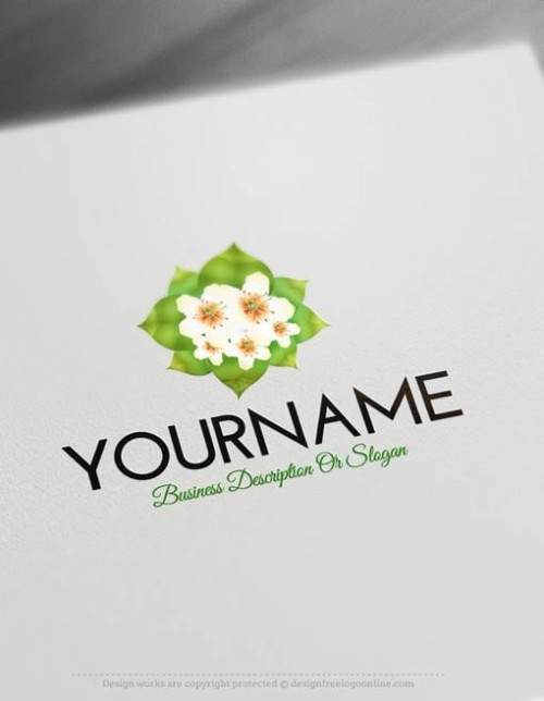 00342-Free-logomaker-simple-flower-Logo-Templates