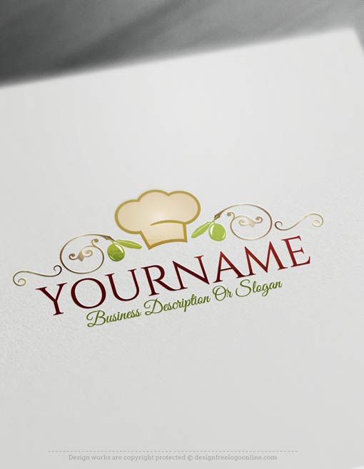 Create a logo free chef cuisine logo templates for Cuisine logo