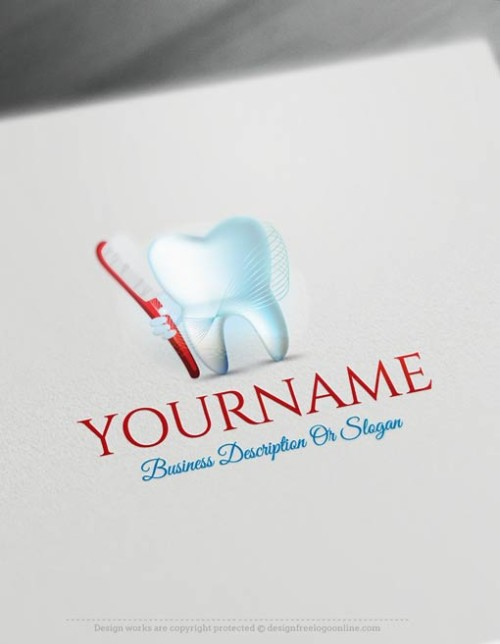 Dentist Logo creation made simple online with Dental logo maker. Customize your template free using the Dentist logo creator.