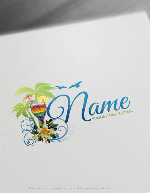 00350-Free-logomaker-summer-cocktail-Logo-Templates