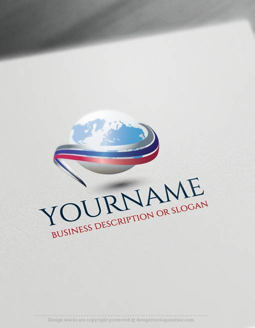 Online company logo templates decorated with a Path Globe 3D Logo