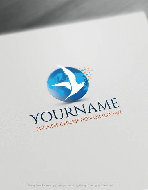 00354-Free-logomaker-seagull-Logo-Templates
