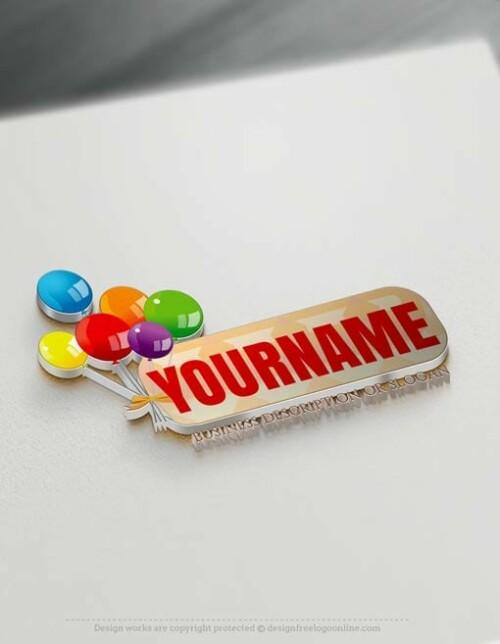 Free logo maker Online Birthday candy Logo Templates