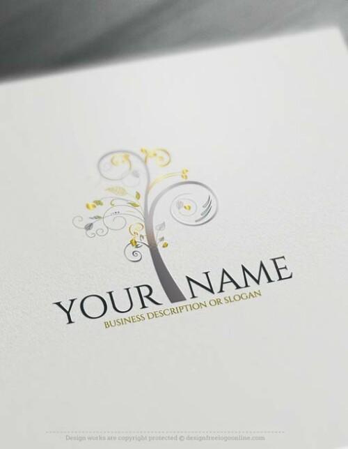 Free logomaker free logo maker Art Tree Logo Templates