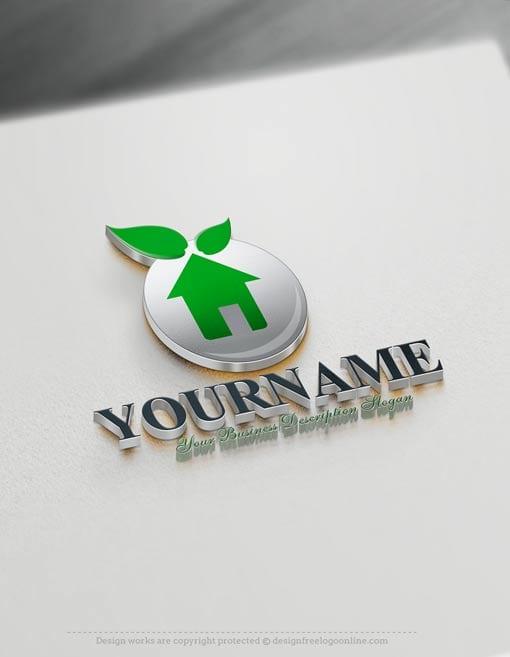 00368-Free-Logo-Maker-green-house-Logo-Templates