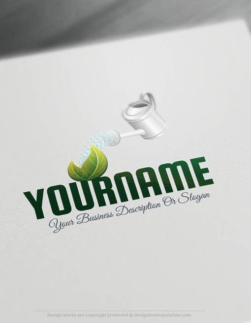 Free logo maker gardening logo templates for Garden maker online