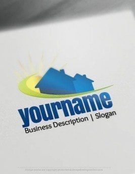 00674-Home-and-Sun-design-free-logos-online1