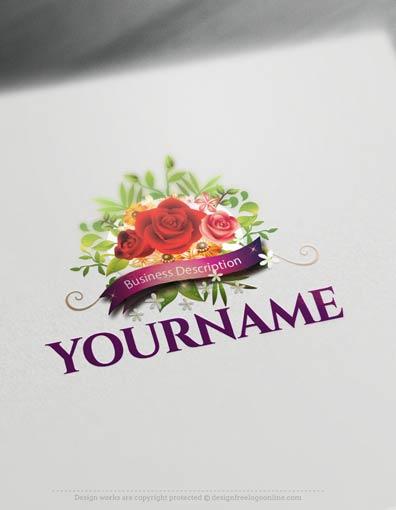 Design Free Logo: Vintage Roses Banner Logo Template