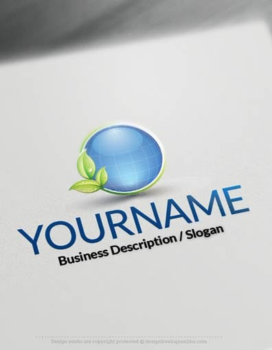 Design Free Logo online: Eco Sphere Logo Template