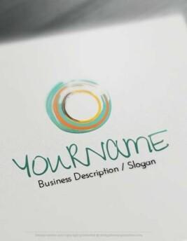 Create a logo Free - Colour Swirl Logo Templates design