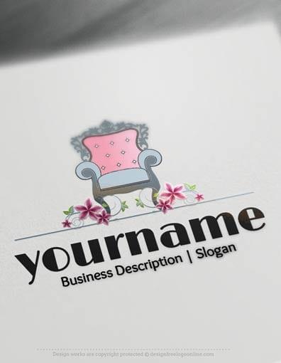 Online Design Free Logo Vintage Interior decor Logo