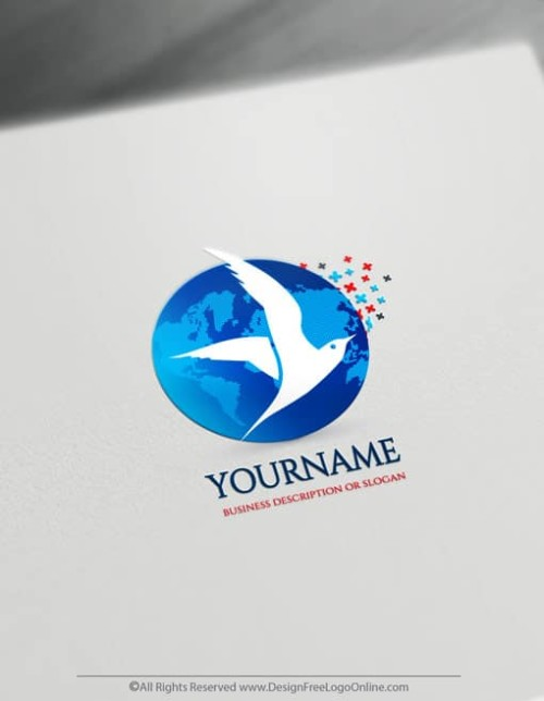 Create a Flying Bird Logo For Free - Seagulls Logo Templates