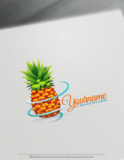 Create a Logo For Free - Online Pineapple Logo Design