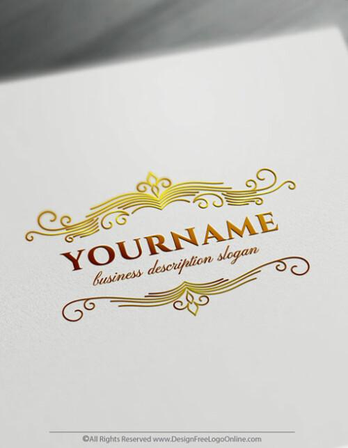 Create a Retro Gold Logo Free Vintage Frame Logo Templates