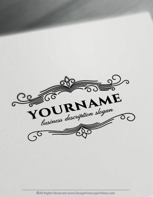Create a Retro Logo Free - Vintage Frame Logo Templates