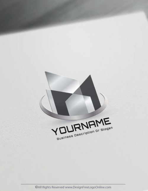 Create a Real Estate Logo Free - Abstract Buildings Logo Template