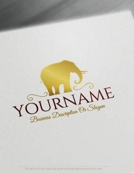 Create-a-logo-Free--Elephant-Logo-Templates
