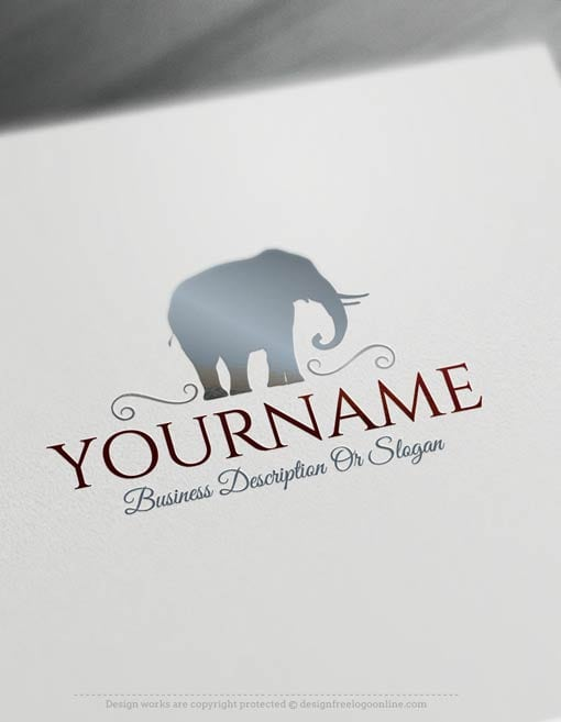 Create-a-logo-Free---Elephant-Logo-Templates
