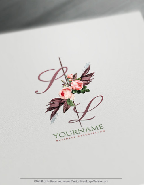 Create a logo with flowers Using Vintage Roses Logo Templates
