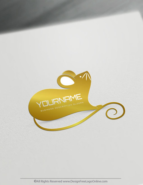 create unique gold Mouse logo design ideas in minutes and without registration.