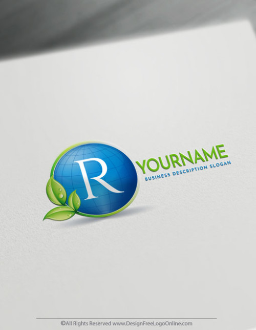 Design Free Eco Logo Online - Globe Logo Template
