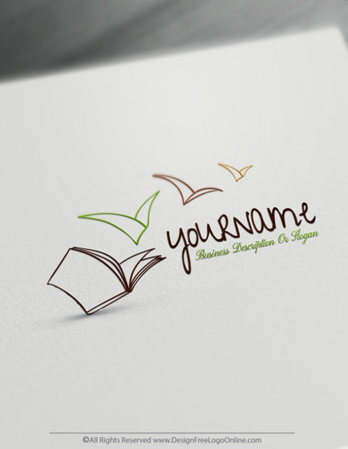 Create Your Own Online Open Book Logo Design Ideas. Use the free logo maker online to Customize your own schooling Logos instantly.