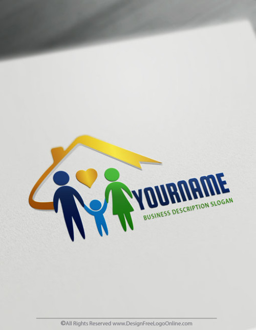 Create your own Family logo - Business Insurance Logo Templates