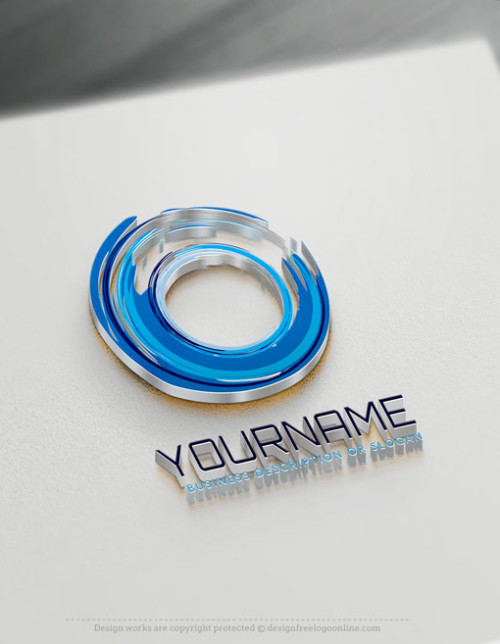 Design your own blue swirl logo online