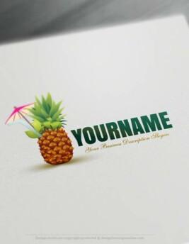 Free-Logo-Maker-Pineapple-Logo-Templates
