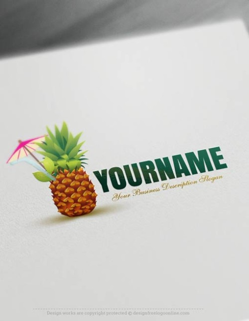 Free-Logo-Maker-Pineapple-Logo-Templates