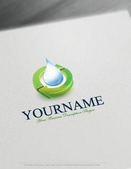 Free-Logo-Maker--Water-recycling-Logo-Templates