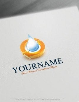 Free-Logo-Maker---Water-recycling-Logo-Templates