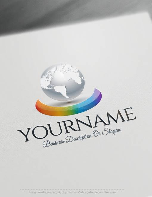 Free-logo-maker-3D-Globe-Logo-Templates