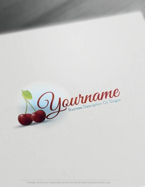 Create a logo Free with Cherries Logo Templates.