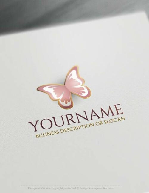 Free-logomaker-butterfly-Logo-Templates