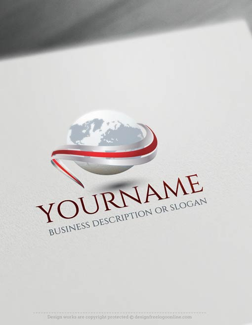 Customize This Ready made Online globe Logo Template with our free logo maker tool
