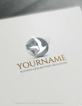 Free-logomaker-seagull-Logo-Templates