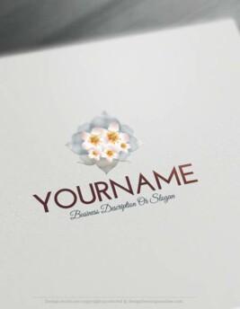 Free-logomaker-simple-flower-Logo-Templates