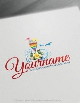Free-logomaker-summer-cocktail-Logo-Templates