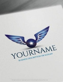 Create a Logo Free - Online Wings star Logo Templates
