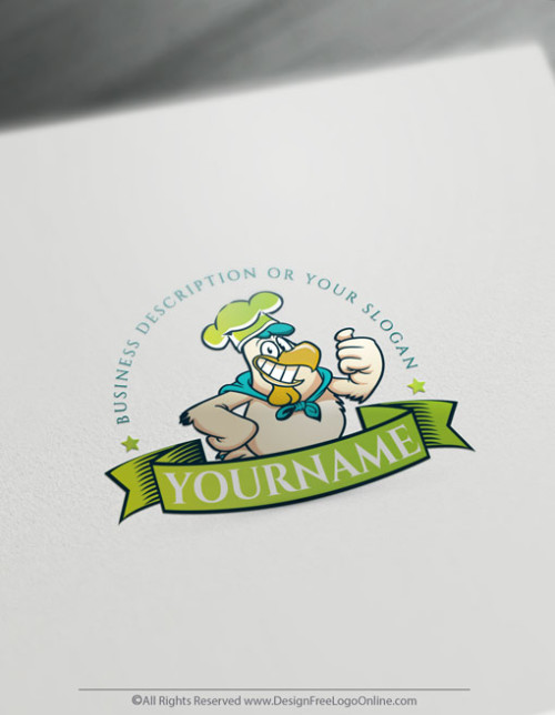 Create healthy food logos for free with rooster Template