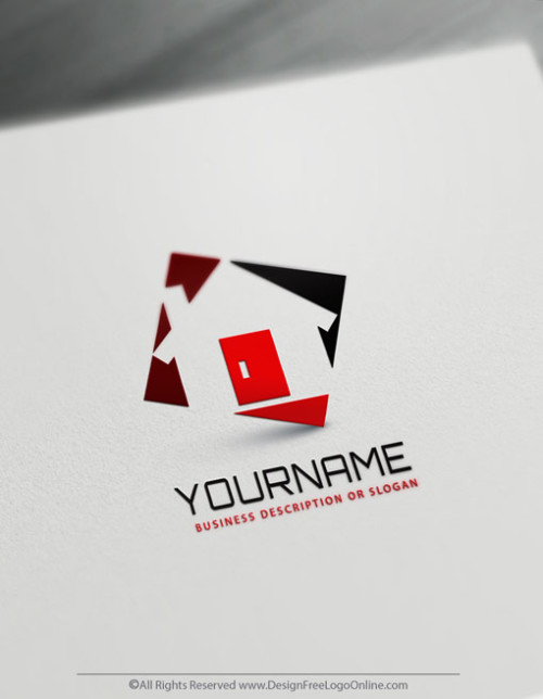 Instantly Create Your Own House Logo Design Ideas by using the free Real Estate logo maker.