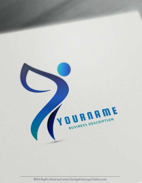Create a Logo Design instantly - Fly Human Logo Templates