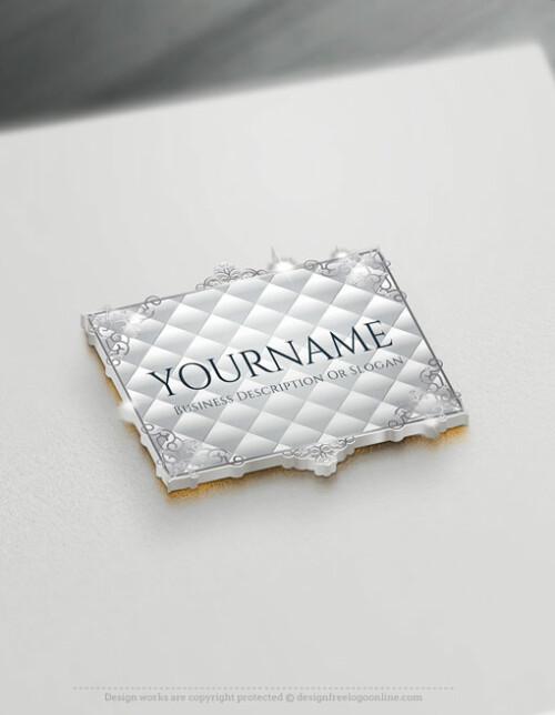 Online Silver Frame Logo - Create a Vintage Logo For Free