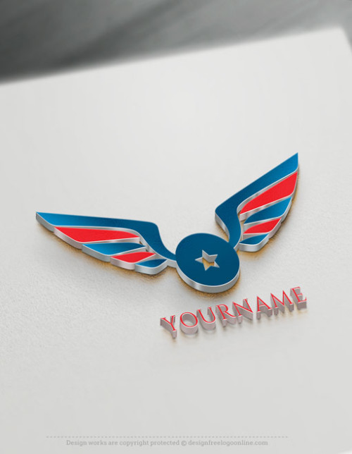 Create a Wings Logo For Free With Our Logo Maker